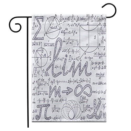 Eastlif 12.5 'x 18' Bandera de jardín Algebraico Muchos Signos matemáticos Diversos...