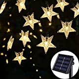 SEMILITS Outdoor Solar String Lights 30Ft 50LED Star Fairy String Lights for Room Decor Garden Christmas Decorative House Lights(Warm White))