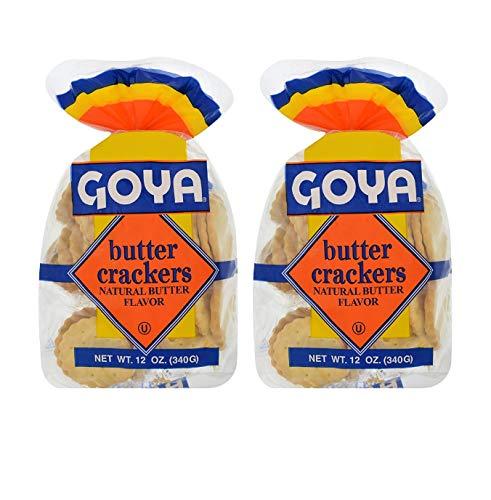 Goya Butter Crackers Natural Butter Flavor (2 Pack, Total of 24oz)