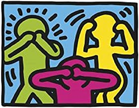 1989. No Evil Keith Haring Abstract Contemporary Figurative Poster (Choose Size of Print)