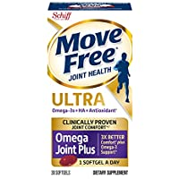 Move Free Ultra Omega 30 softgels Joint Health Supplement with Omega 3 Krill Oil and Hyaluronic Acid