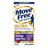 Omega-3s Plus HA & Antioxidant, Move Free Ultra Omega (30 Count In A Box), Joint Health Supplement with Omega-3 Krill Oil and Hyaluronic Acid