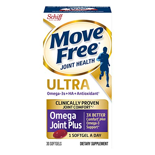 Omega-3s Plus HA & Antioxidant, Move Free Ultra Omega (30 Count In A Box), Joint Health Supplement...