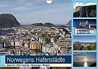 Norwegens Hafenstaedte - Alesund - Honningsvag - Geiranger - Bergen (Wandkalender 2022 DIN A4 quer): Die Route von Hamburg zum Nordkap ist sehr beliebt bei Kreuzfahrern! (Monatskalender, 14 Seiten )