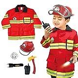 CandyTT 0951-9 Simulación de extinción de Incendios, Juguetes duraderos, realistas y duraderos, llamativos, Juguetes de Disfraz de Bombero (Rojo 0951-9)