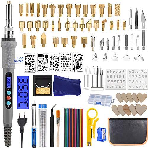 Longan Craft 109pcs Kit de Pyrogravure sur Bois Outil...