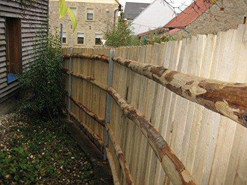 Gartenwelt Riegelsberger 1 Stück Zaunriegel Kastanie 195 cm lang Ø 8-10 cm/gesägt - geschält - halbrund/Kastanienholz/Querriegel/Staketenzaun