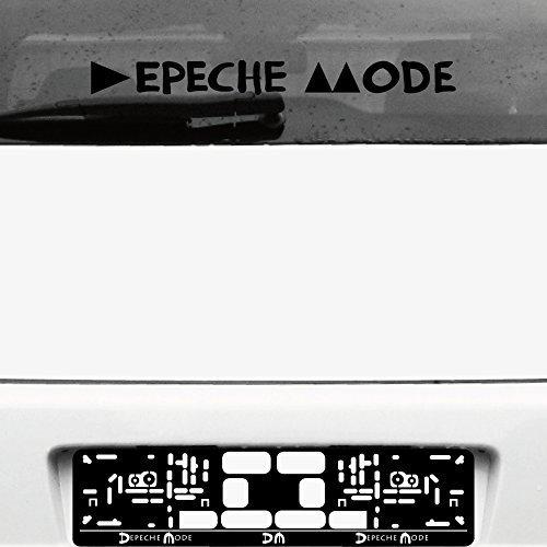 GreenIT Schriftzug Delta Machine Aufkleber Tattoo die cut car Decal Auto Heck Deko Folie Autofolie Autoaufkleber Depeche Mode (schwarz invers)