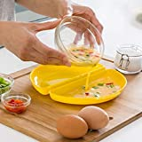 Plat de cuisson au micro-ondes pour omelettes