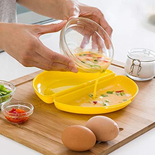 Mikrowellen-Eierkocher für pochierte Eier, Omeletts, gesunde, schnelle, leckere und einfache Zubereitung, ohne Bisphenol A, mit Rezepten