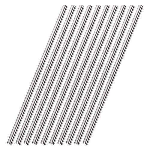 Varilla redonda sólida de acero inoxidable 304 de 6 mm x 300 mm para manualidades de bricolaje - 10 piezas