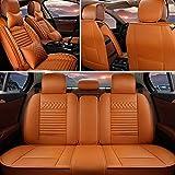 シートカバー に適しています Toyota Hilux 5席 専用 前席シート+後席用 フルセット カー シートカバー 保護カバー 防水 防汚 PU レザー オールシーズン 軽普通車用 エプロンタイプ(2つのヘッドレスト+2つのウエストパッド) カイエンイエロー