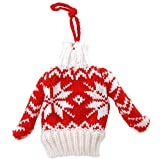 "Kurt Adler 4"" Merry & Bright Decorative Ugly Santa Sweater Christmas Ornament"