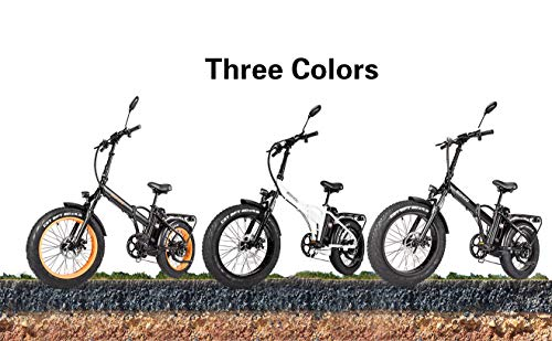 SOHOO 48V500W13AH 20' x4.0 Adult Folding Fat Tire Snow E-Bike Mountain Electric Bicycle Beach Cruiser Foldable Bike