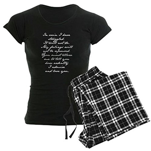 CafePress Jane Austen Pride and Prejudice Proposal Speech 5 Womens Novelty Cotton Pajama Set, Comfortable PJ Sleepwear