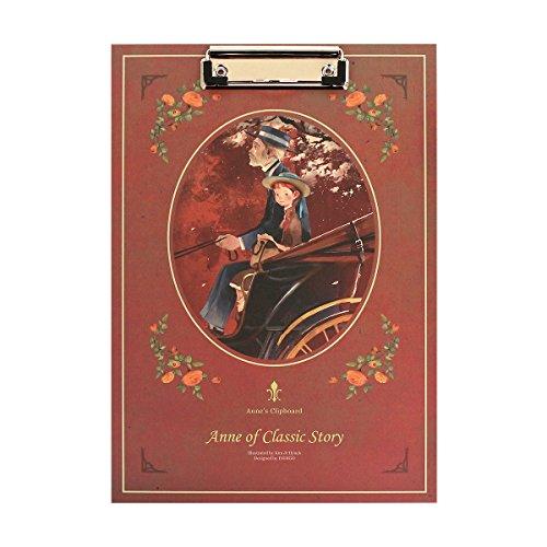 赤毛のアン イラストクリップボード Anne of Classic Story (Red)