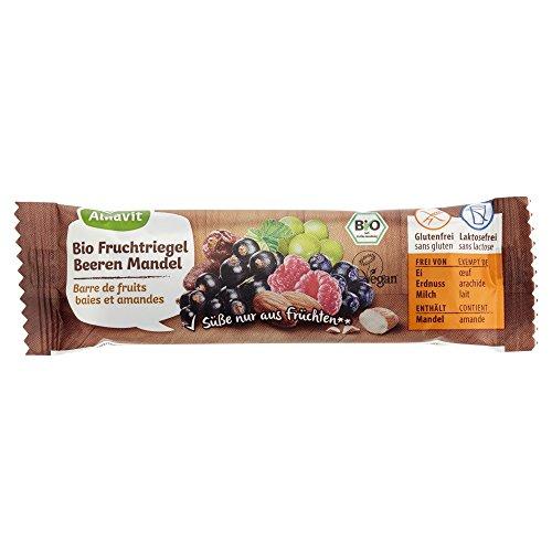 Alnavit Bio Beeren-Mandel Fruchtriegel, glutenfrei, laktosefrei, 20er Pack (20 x 40 g)