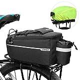 Lixada Fahrrad Gepäckträgertasche mit Regenschutz, Fahrrad Sitz Multifunktionale Isolierte Stammkühltasche,Umhängetasche, 29 * 16 * 17cm
