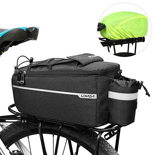 Lixada Fahrrad Gepäckträgertasche mit Regenschutz, Fahrrad Sitz...