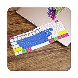Cubierta suave del teclado del silicón para MacBook Air 13 pulgadas 2019 2018 lanzamiento A1932 Touch ID a prueba de polvo impermeable protectora Skin-Candy azul