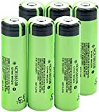 Las Baterías De Iones De Litio D De 3.7V 3400 Mah Ncr18650 Pueden para Pilas Protegidas De PCB De Linterna De Banco De Energía 6 Piezas