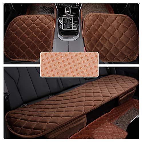 Cojín protector del vehículo cubre asiento acolchado para la correa del asiento del auto cojines del asiento de la silla cojines Seda de plumas suaves cómo_Café_Asiento delantero y asiento trasero