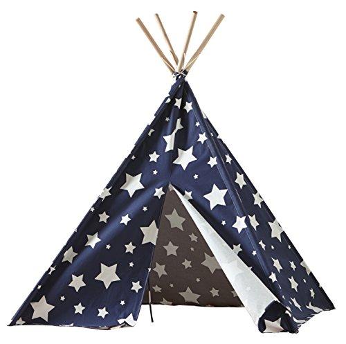 Merry Garden Children's Teepee Blue with White Stars