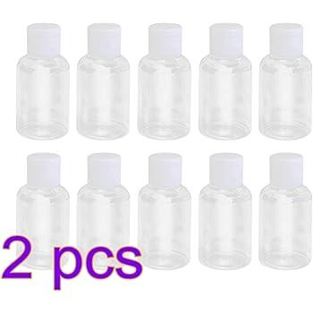 limpiador de espuma facial Cabeza del cepillo Travel Botellas vac/ías Mousse port/átil Botella de pl/ástico espumoso Mini contenedor recargable para mousse blanco