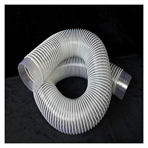 ZRNG Diámetro interno de 2 m 40/50 / 55/60 / 70mm PVC Limpiador de aspiradora industrial de PVC PEES PEES HOSETE TUBO SUFICIO AJUSTE DURANTE for CYCLONE SN50T3 La instalación es simple y fácil de usar