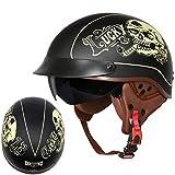 MTTKTTBD Brain-Cap · Halbschale Motorrad-Helm Jet-Helm Roller-Helm Scooter-Helm Mofa-Helm Retro...