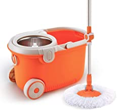 Floor Mop Household Hands-Free Wet and Dry Spin Mop Bucket Set for Corner Living Room Tile and Hardwood Floor