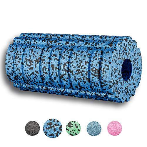 BODYMATE Faszienrolle Active Mittel-Hart mit GRATIS E-Book - Sapphire-Blue 30x15cm mit aktivierender Oberflächenstruktur