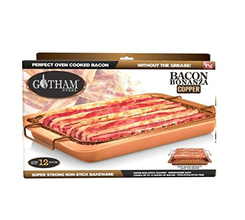 Bacon Bonanza by Gotham Steel Oven Healthier Bacon Drip Rack Tray with Pan – As Seen on TV