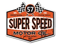 バイカーステッカー BIKER STICKER バイク ハーレー ヘルメット SUPER SPEED ヴィンテージ BK040 車 ステッカー 屋外OK