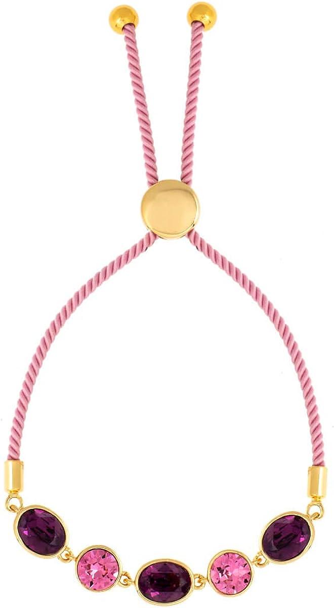 BERTHA Jemma Collection Women's Columbus Mall 18K Bolo Rope Gold Award-winning store Plated Fashio