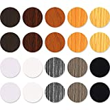 540 Pieces Screw Hole Covers Stickers 10 Sheets PVC Screw Cover Caps Stickers Adhesive Furniture Screw Stickers in 10 Colors Waterproof Wood Textured Hole Stickers for Wall Cabinets Desk Screws