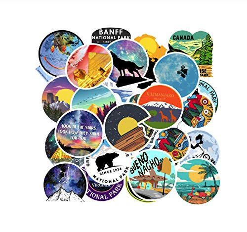 Buiten Landschap Graffiti Stickers Laptoptas Koelkast Skateboard Kind Sticker Cool Doodle Sticker Speelgoed Geschenken 100 Stuks
