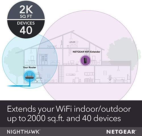 Netgear Nighthawk XR500 WLAN Pro Gaming Router (AC2600 Geschwindigkeit mit Quad Stream) & WLAN Mesh Repeater EX7700 WLAN Verstärker, AC2200 Tri Band WiFi, Abdeckung 4 bis 5 Räume und 40 Geräte