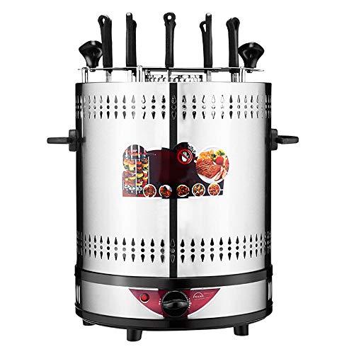 Máquina De Kebab Barbacoa Sin Humo De La Máquina 360 ° Rotación Automática De 12 Secuencias Kebab Fácil De Desmontar Tiempo De Control para La Familia, Al Aire Libre, Cena
