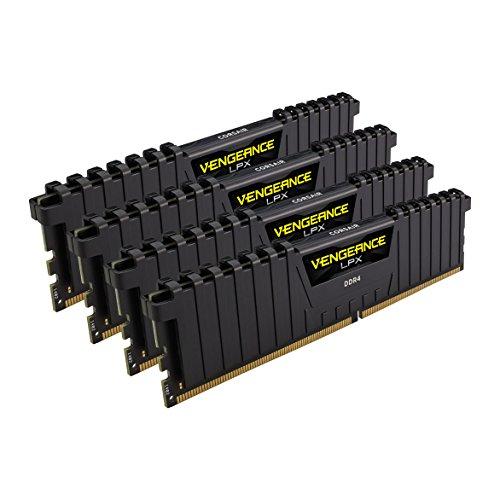 Corsair Vengeance LPX 64Go 4x16Go DDR4 2400MHz C14 XMP 2.0 Kit de Mémoire Haute Performance Black