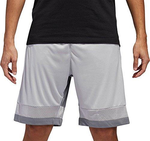 adidas Mens Pro Bounce Basketball Shorts (Light Grey/Dark Grey, X-Large)