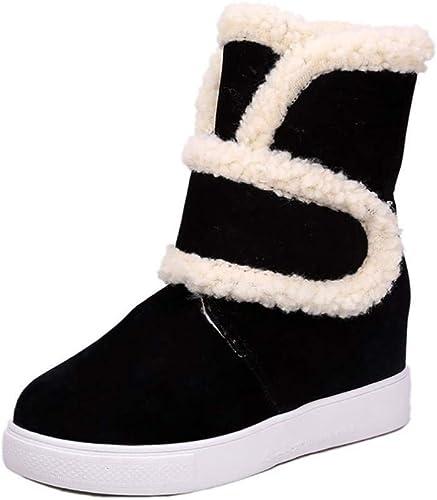 Hhor Hhor Bottes Bottes de Neige Bottes pour Femmes Bottes d'hiver en Fourrure Chaude Bottes à la Cheville Bottes de Neige (Couleuré   Noir, Taille   EU 40)  100% livraison gratuite