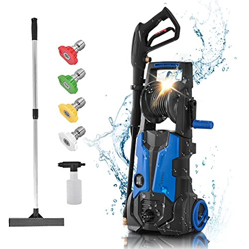 Idropulitrice per interni (170 bar, 1800 W, 450 l/h, tubo ad alta pressione, cavo da 5 m), lavaggio auto, pulizia del pavimento, pulizia della casa, multifunzione