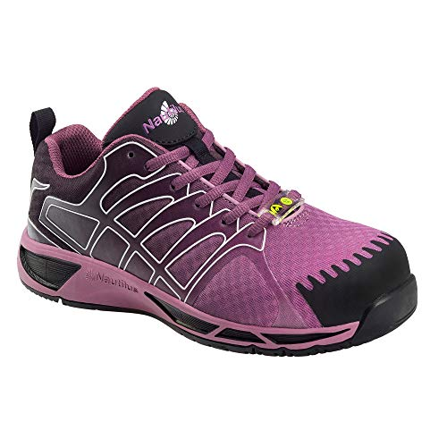 Nautilus Safety Footwear N2471 Women's Carbon Toe Athletic Work Shoes, 7.5 W