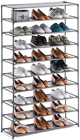 YOUDESURE 10 Tiers Shoe Rack Stackable Shoe Organizer for 50 Pairs Space Saving Shoe Shelf Non product image