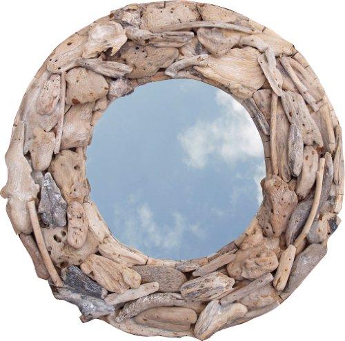 *Guru-Shop Treibgut-Spiegel Rund 90cm, 90x90x10 cm, Spiegel*