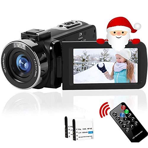 ビデオカメラ 2688X1520 2.7K 1080P(60FPS) 4200万画素数 フィルライト 3インチスクリーン 128GBカード対応 リモコン&日本語取説