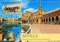 Sevilla - Impressionen aus dem Herzen Andalusiens (Tischkalender 2022 DIN A5 quer): Eine fotografische Reise durch Sevilla (Monatskalender, 14 Seiten )