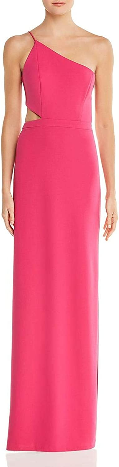 Aidan Mattox Aidan Womens CutOut One Shoulder Formal Dress