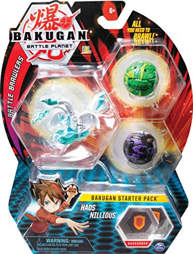 BAKUGAN Starter Pack 3-Pack, Collectible Action Figures, for Ages 6 and Up